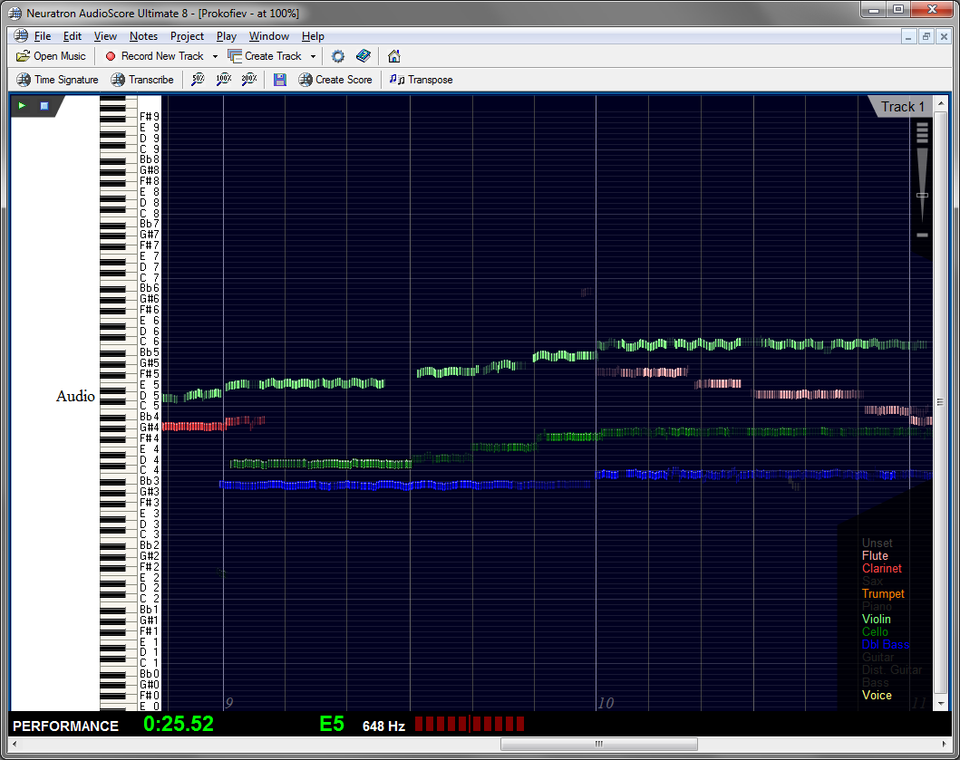 Transcribe mp3s & cd tracks with audioscore.